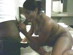Interracial blowjob ... Black-Indian