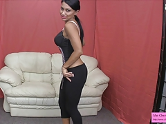 Lick up your cum be fitting of Jasmine Dumb JOI CEI YOGA PANTS LEGGINGS