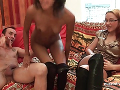 FFM Anal casting young inexpert indian slut with compacted pair