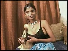 """Indian slut """"teen"""" punja takes creampie  -"""
