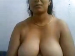 Throb Southindian Busty Mallu Aunty's Bowels and Pussy Show